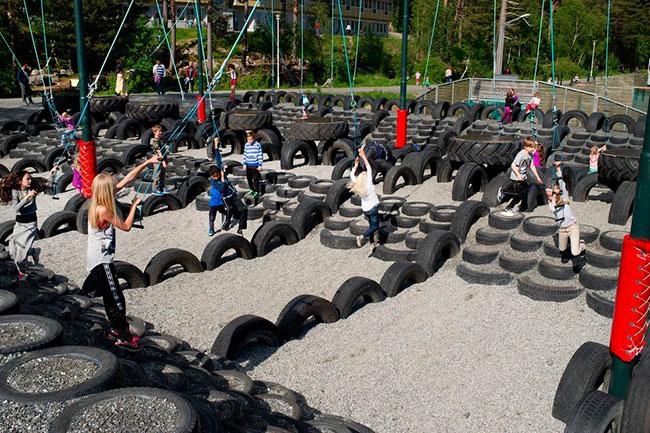 Kvam fritidspark, Molde, 2013. Foto: Romsdals Budstikke. Foto: Kjell Langmyren