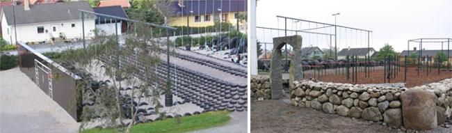 Varhaug skole: Ballbaner - Driblefelt - Ballvegg - Buldrevegg - MiniTarzan -Tarzanjungel - Turnbasseng. Foto: Jan Harald Forsmo.